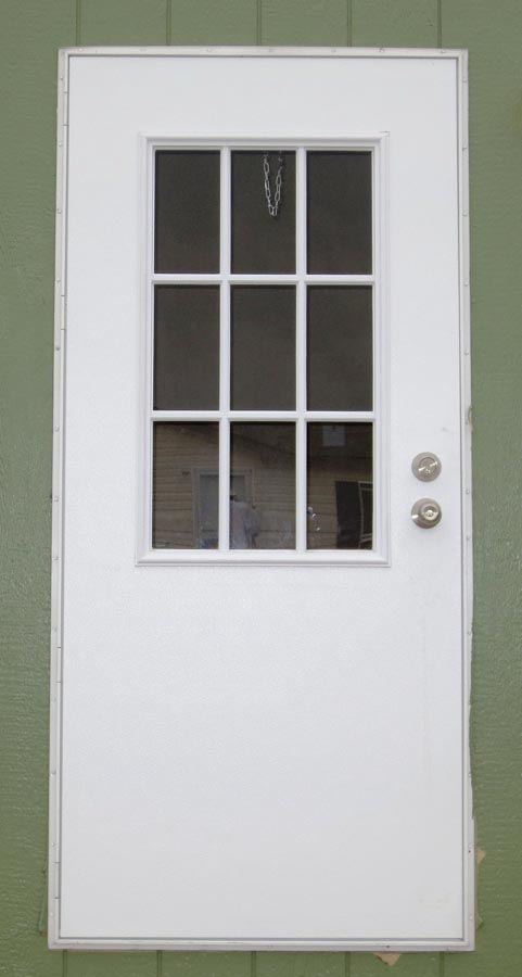 Rear exterior doors essentials left hung obscure glass for Exterior back doors with glass