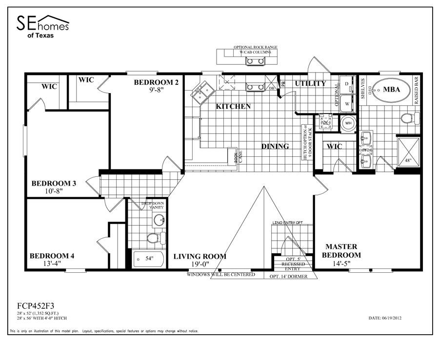 Legend Mobile Home Floor Plans