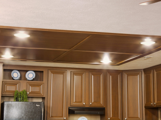 Ceiling Insert with Can Lights