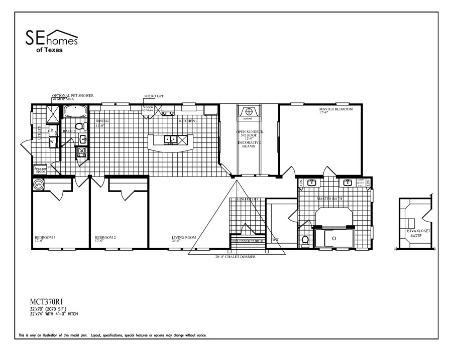 Monarch residential series big j mobile homes for Monarch homes floor plans