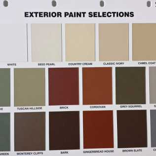 Exterior Paint Selections