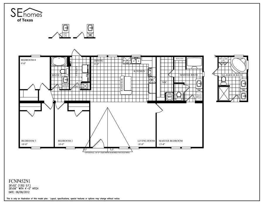 Fc triumph big j mobile homes for Southern energy homes floor plans