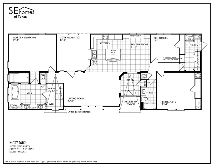 Monarch residential series big j mobile homes Monarch homes floor plans